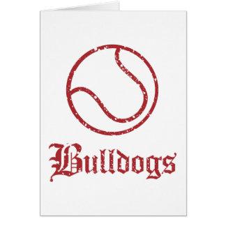 Bulldogs Tennis Greeting Cards