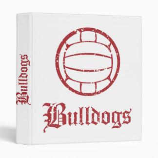 Bulldogs Volleyball 3 Ring Binder