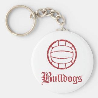 Bulldogs Volleyball Basic Round Button Keychain