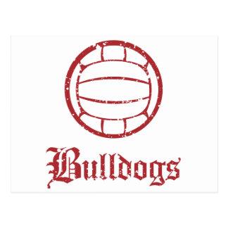 Bulldogs Volleyball Postcard