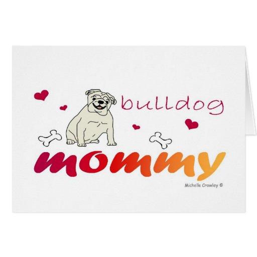BulldogWtMommy Tarjeta De Felicitación