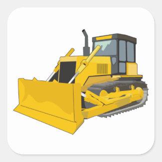 bulldozer 1 square sticker