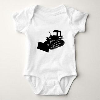 bulldozer baby bodysuit