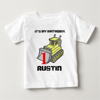Bulldozer Birthday Tee, customizable T Shirt