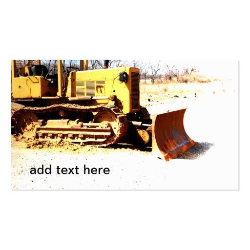bulldozer business card template