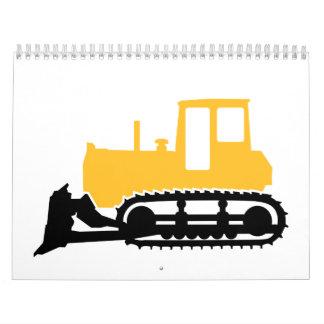 Bulldozer Wall Calendar