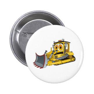 Bulldozer Cartoon 2 Inch Round Button