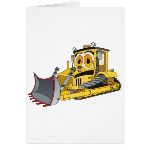 Zazzle Bulldozer Cartoon Card