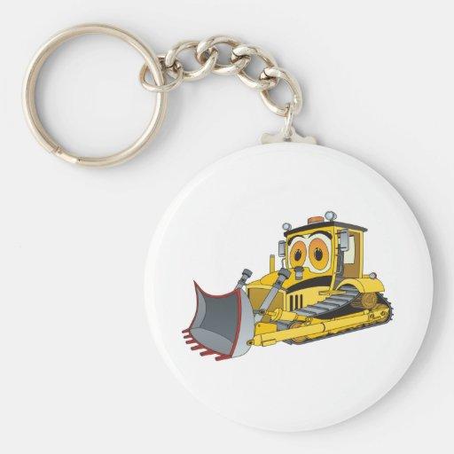 Zazzle Bulldozer Cartoon Keychain