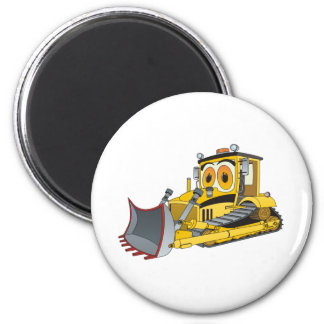 Bulldozer Cartoon Magnet