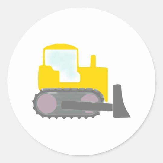 Bulldozer Classic Round Sticker