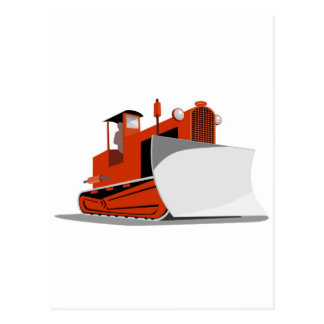 bulldozer construction equipment machinery postcards
