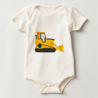 Bulldozer Construction Machine Baby Bodysuit