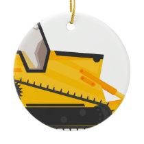 Bulldozer Construction Machine Ceramic Ornament