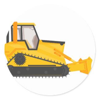 Bulldozer Construction Machine Classic Round Sticker