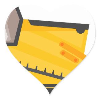 Bulldozer Construction Machine Heart Sticker