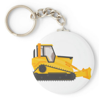 Bulldozer Construction Machine Keychain