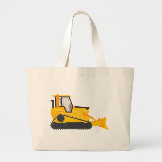 Bulldozer Construction Machine Large Tote Bag