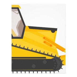 Bulldozer Construction Machine Letterhead