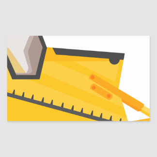 Bulldozer Construction Machine Rectangular Sticker