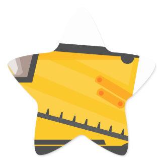 Bulldozer Construction Machine Star Sticker
