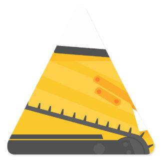 Bulldozer Construction Machine Triangle Sticker