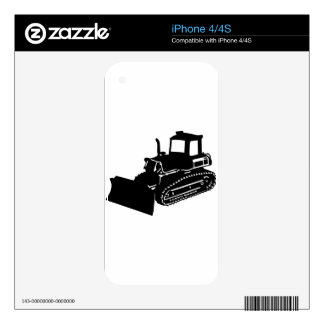bulldozer decals for iPhone 4