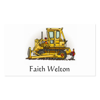 Bulldozer Dozer Double-Sided Standard Business Cards (Pack Of 100)