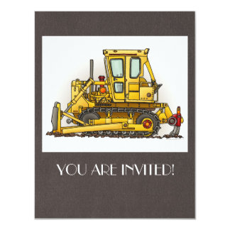 Bulldozer Dozer Card