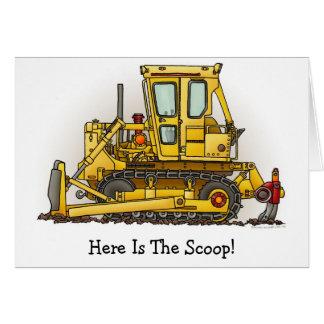 Bulldozer Dozer Card