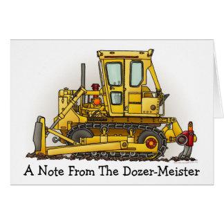 Bulldozer Dozer Note Card