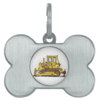 Bulldozer Dozer Pet Tag