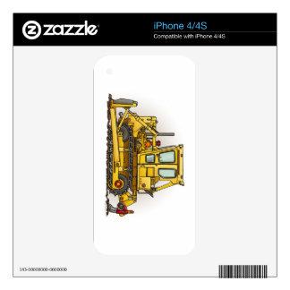 Bulldozer Dozer Skin For iPhone 4