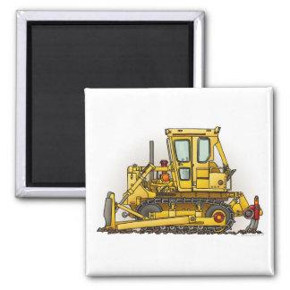 Bulldozer Dozer Square Magnet