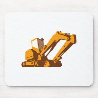 bulldozer front retro mouse pad