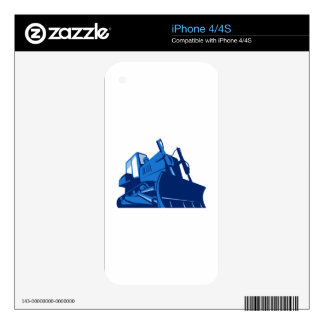 bulldozer front retro skins for the iPhone 4