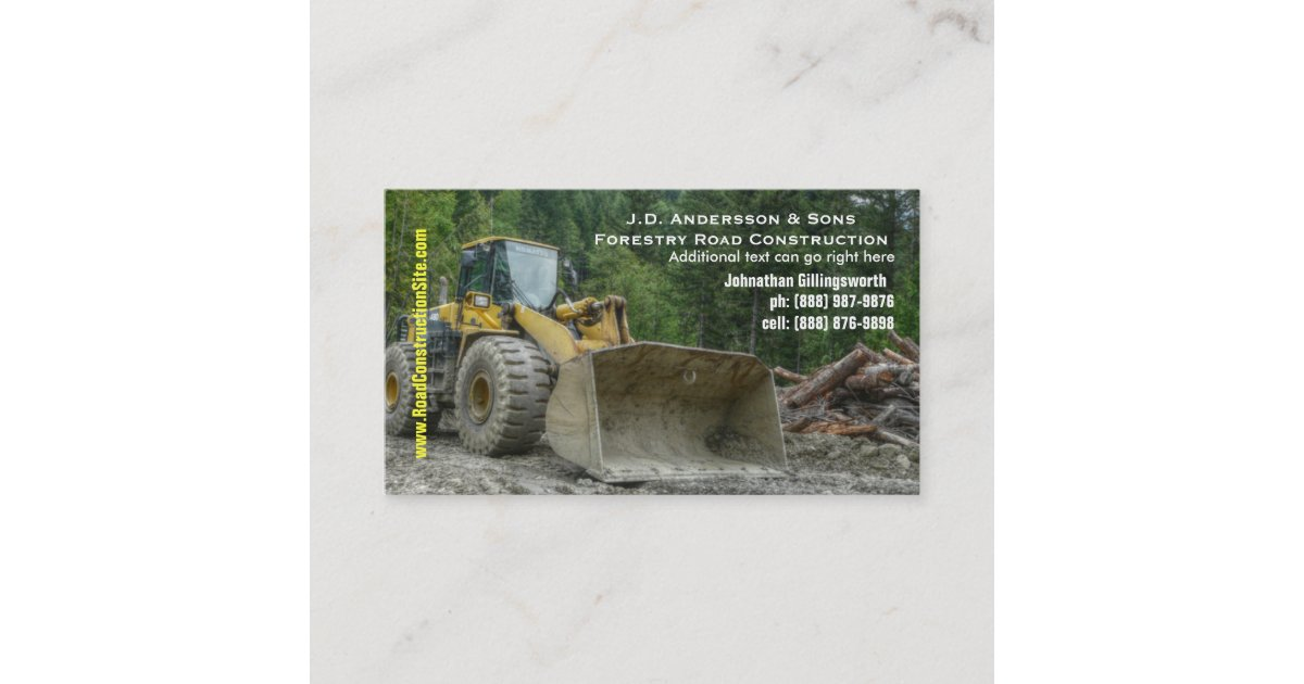 Bulldozer Heavy Road Construction Earth Moving Business Card ...