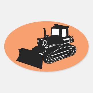 bulldozer oval sticker