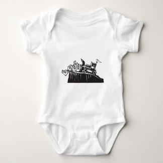 Bulldozing Money Baby Bodysuit