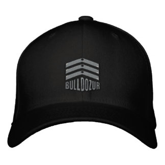 "Bulldozur ""Coat of Arms"" Logo Fitted Hat"