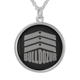 """Bulldozur """"Coat of Arms"""" Sterling Silver Necklace"""