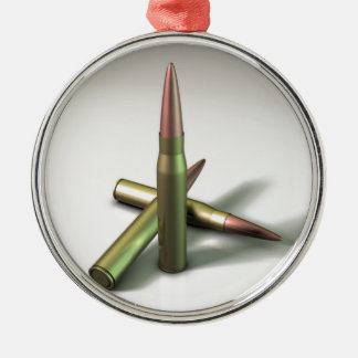 Bullet Ammo Round Metal Christmas Ornament
