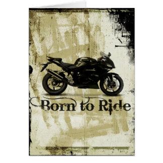 Bullet Bike Sport Motorcycle Birthday Card
