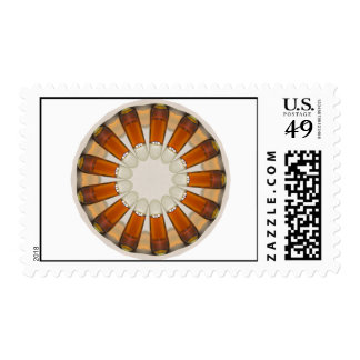 Bullet Cognac Brandy Bottle Gold Glass Abstract Ar Stamp