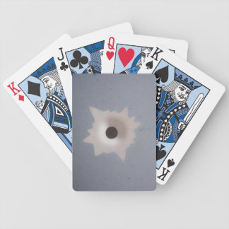 Bullet hole bicycle playing cards