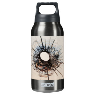 Bullet Hole in Glass Insulated Water Bottle