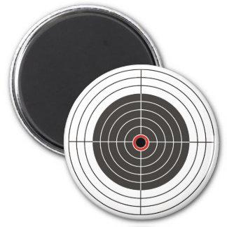 Bullet hole in the target - bull's eye shooting magnet