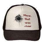Bullet hole mesh hats