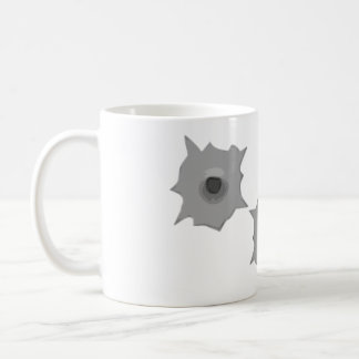 Bullet Hole Message Mug
