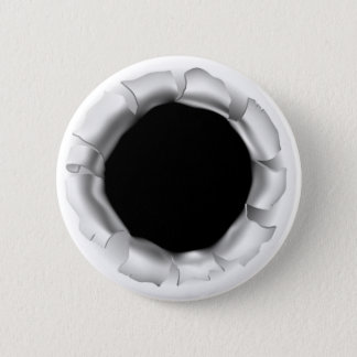 Bullet Hole or Rip Through Background Pinback Button